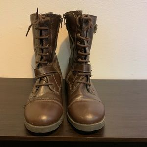 Mossimo Brown Lace Up Boots Size 10